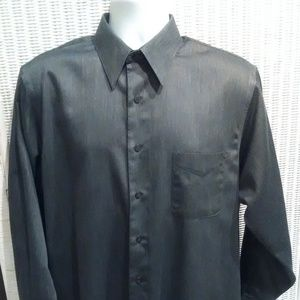Geoffrey Beene Sateen mens Grey Shirt